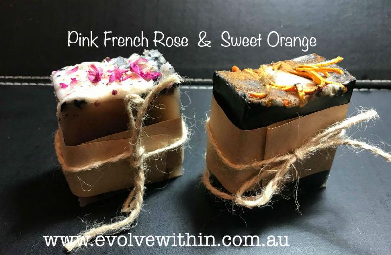 Sweet Orange or Pink French Rose ~ Organic Soap
